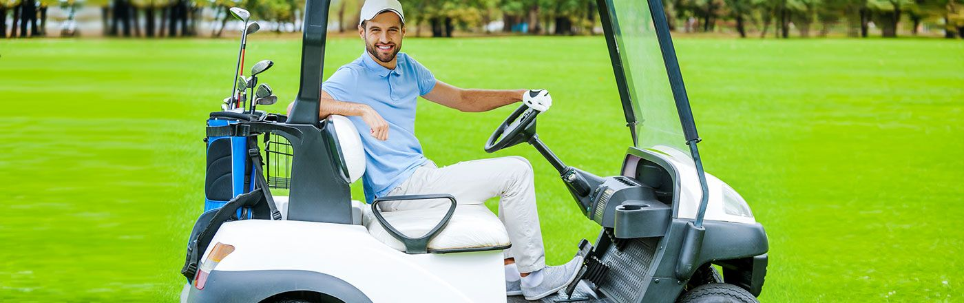Specialty golf cart insurance protects your golf cart and gives you discounts for home ownership and each year you do not have a claim.
